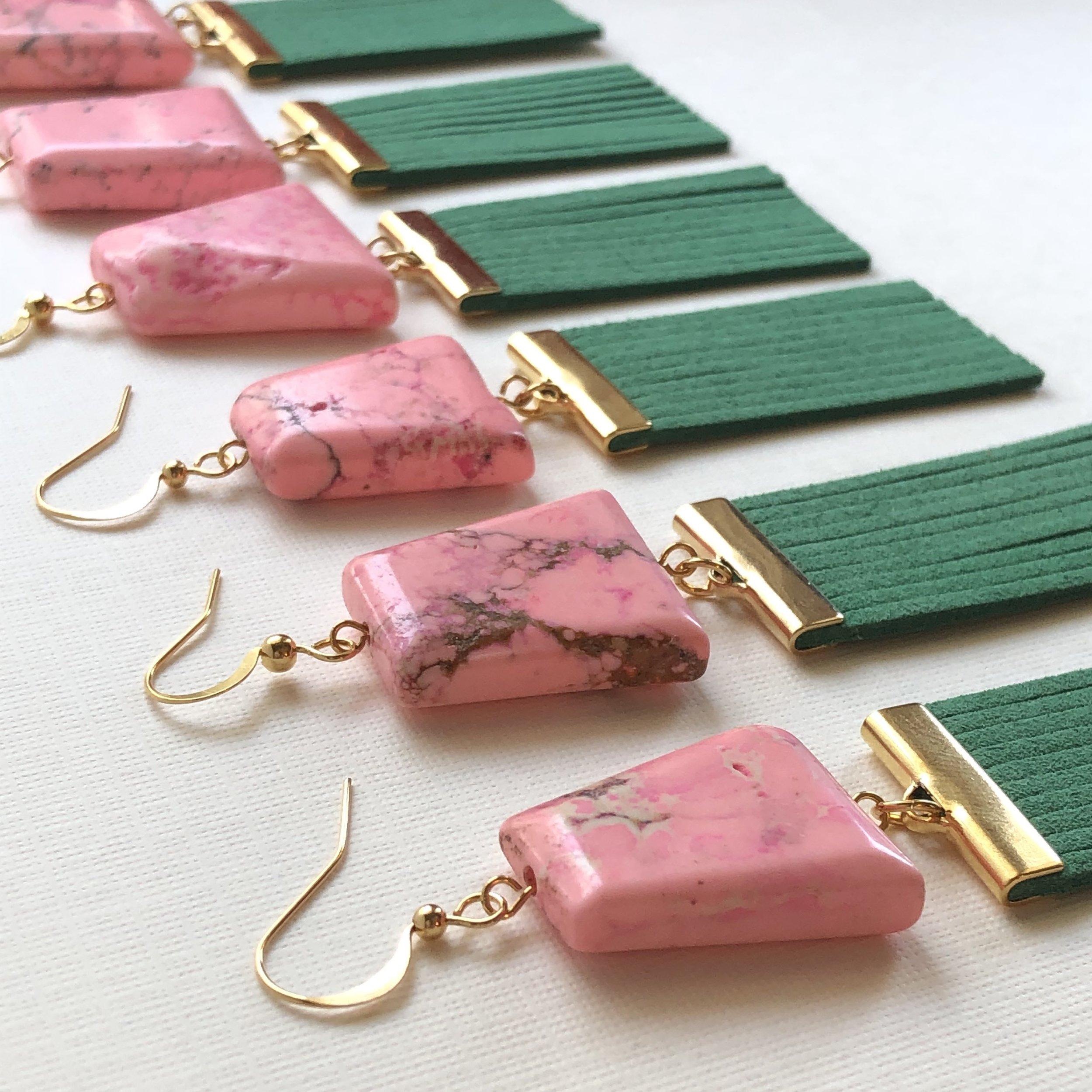 Avert Adornments Pink Geo with Viridian Fringe.jpg