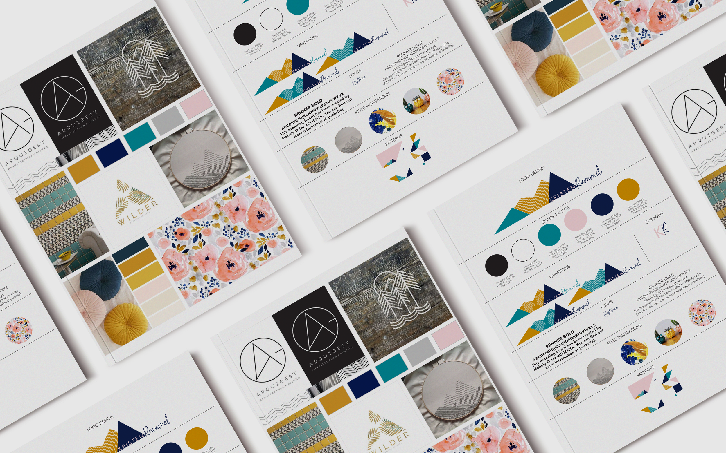 After To A T Brand: - You'll have a color palette that speaks for your brandYou'll have an original logo you loveYour fonts are on-point for your businessYou hand out business cards confidently