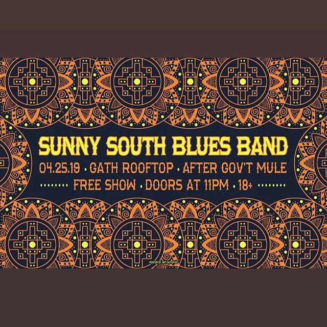 Thanks to everyone who came out last night to Smiths, @magnoliamoonband and @themurphsband really blew us away, check them out ASAP! We'll see you Thursday on the @rooftop_georgiatheatre Poster Credit @art_satisfied #sunnysouthbluesband #ssmfbb #georgiatheatre #rooftop #after #governmentmule