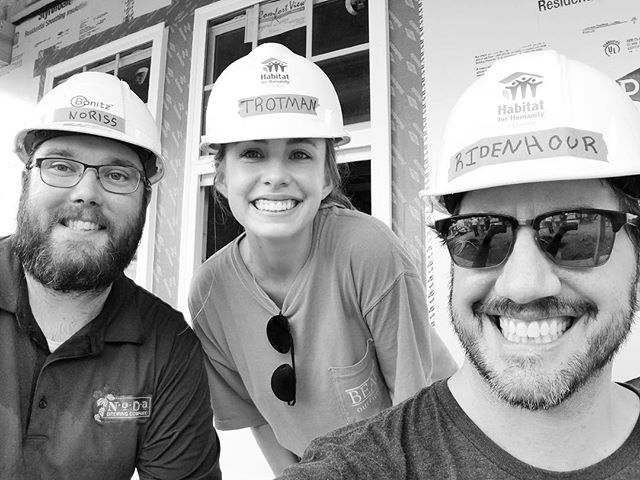 The best things happen when we work TOGETHER! 🏡 Loved working on this bi-partisan @habitatclt build. #norafornc #strongertogether