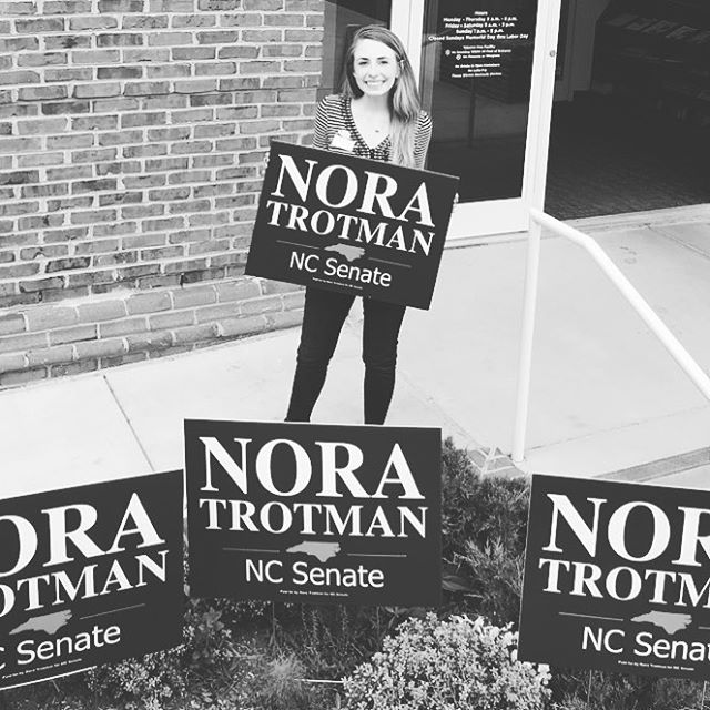 Early voting starts next week 👀 DM us if you'd like to get involved 🗳 #NoraforNC