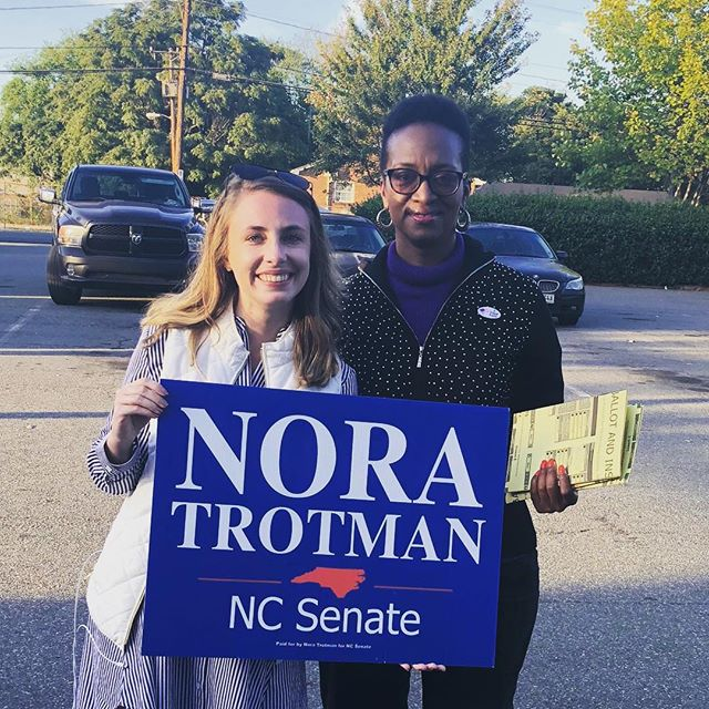 Great showing of support in the first 3 days of early voting! 👀 Polls open again tomorrow @ 7! #NoraforNC #ncpol