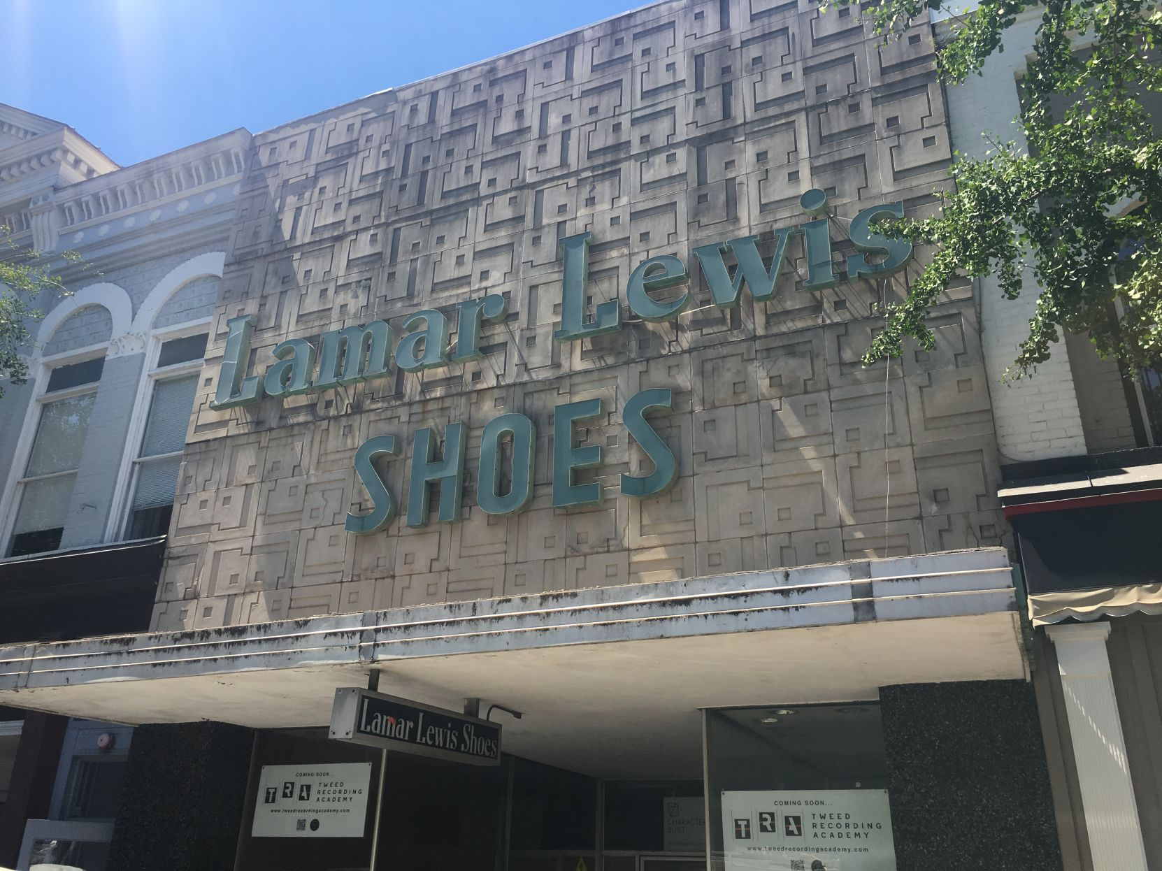 Tweed Recording to occupy the space left by Lamar Lewis Shoe Store downtown - Red & Black | July 12, 2018