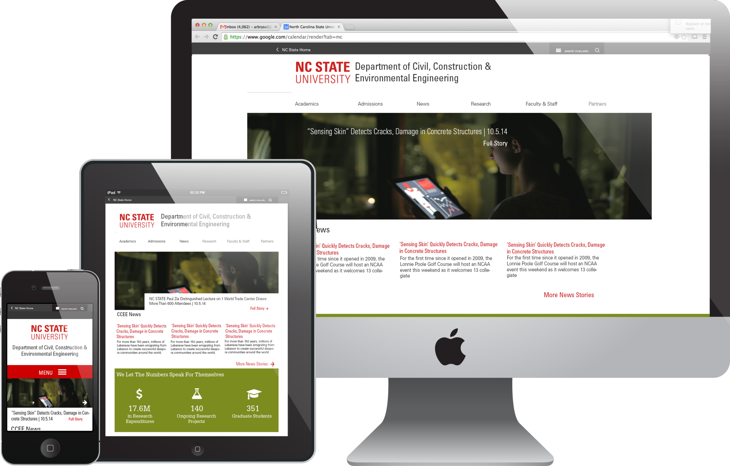 Responsive, branded WordPress theme, which meets the needs of multiple audiences