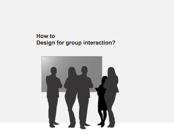 How do we begin to design public facing interfaces that allow for group participation?