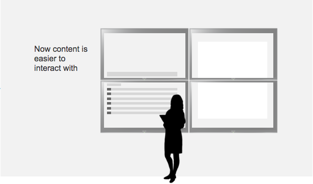 By allowing the user to move content areas around, we make it easier for them to view and interact with content.