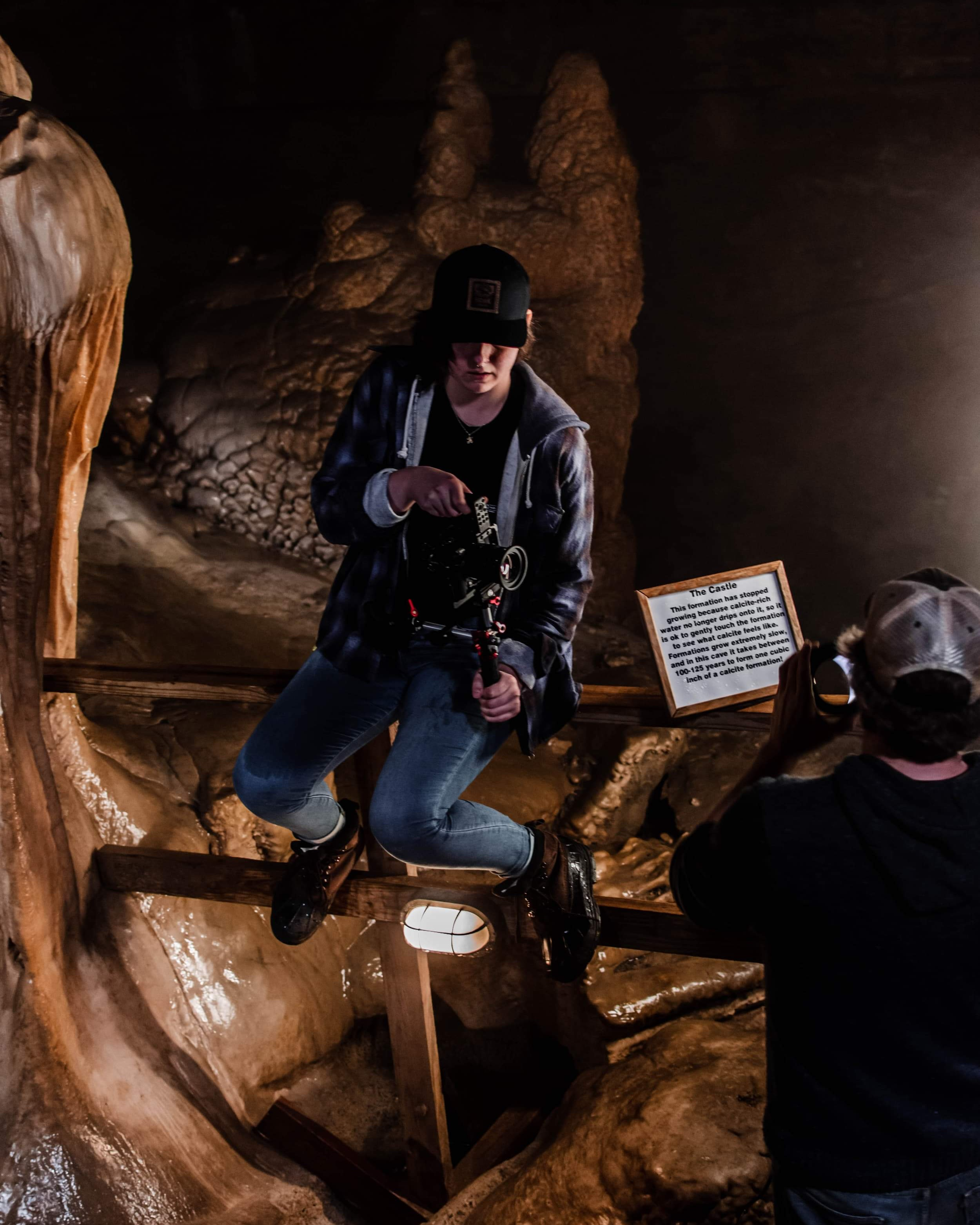 """In the belly of the Earth… - Working on the set of Micahlan Boney's""""Superstition"""" (Cover) music video shoot produced by Thrown2Gether Productions."""