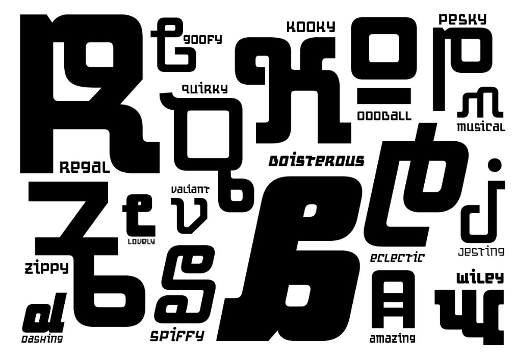 The 'Motorix' typeface development challenges the rules of form, beauty, and function all the while pushing the limits of what language looks like.