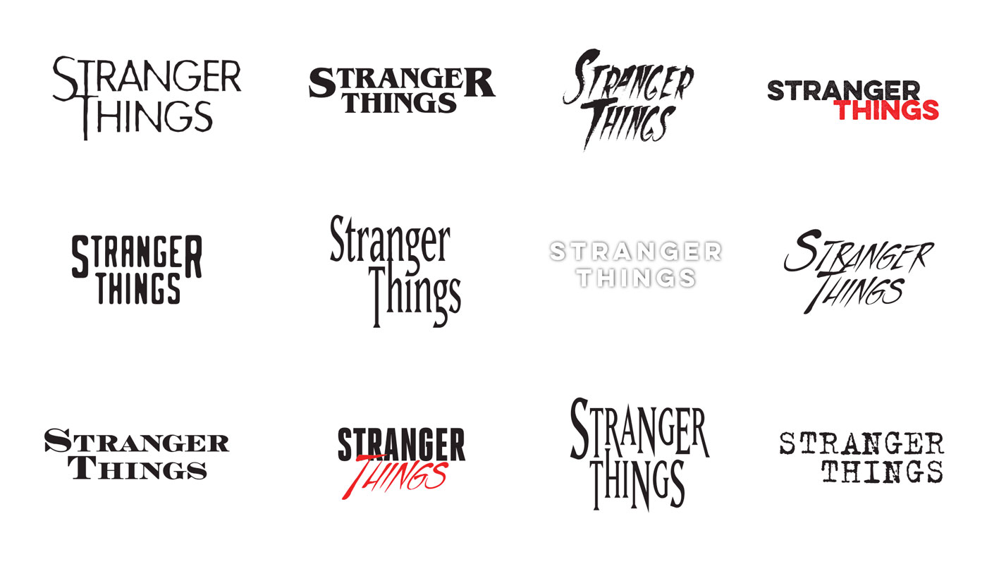 Design iterations for the  Stranger Things