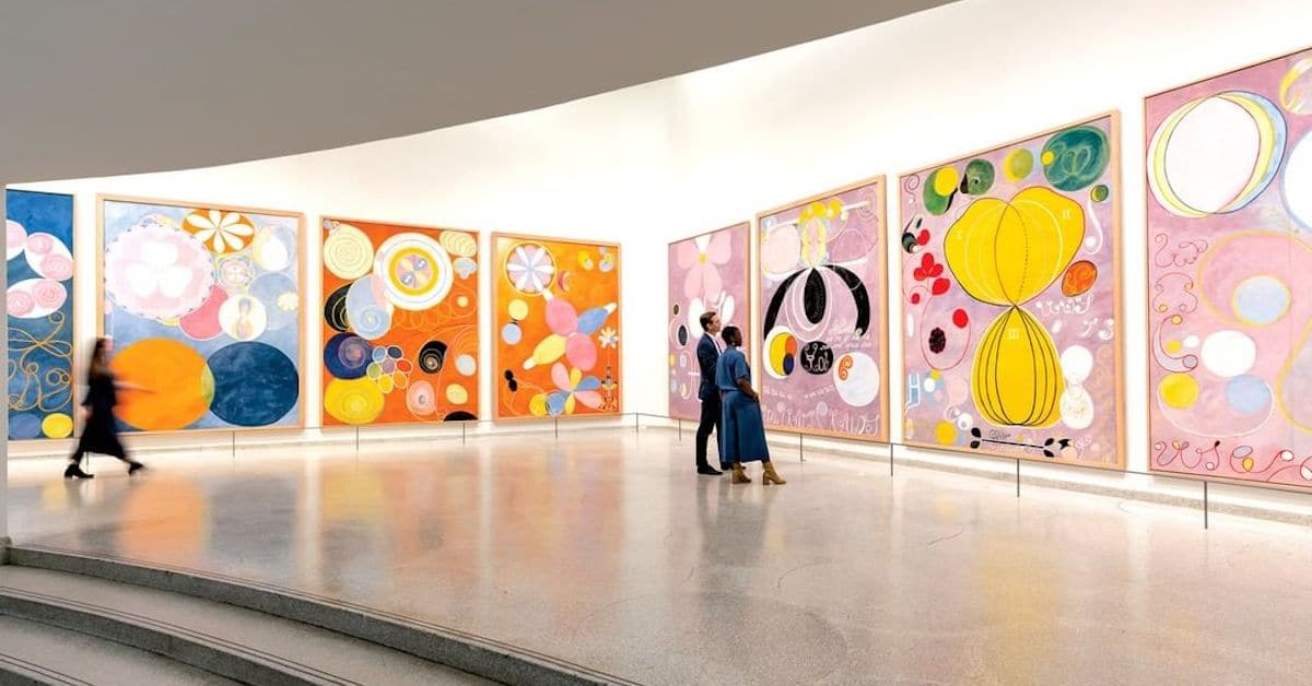 Hilma af Klint at the Guggenheim Museum  | The otherworldly abstract artworks of Swedish artist, Hilma af Klint have me mesmerized. They provoke the question of what is modern - especially relevant during our technology-laced times. Her energetic color palettes, perfect forms and flowing compositions are simply magnificent. Klint's paintings were among the first abstract art, she lived 1862-1944. A considerable body of her abstract work predates the first purely abstract compositions by Kandinsky.