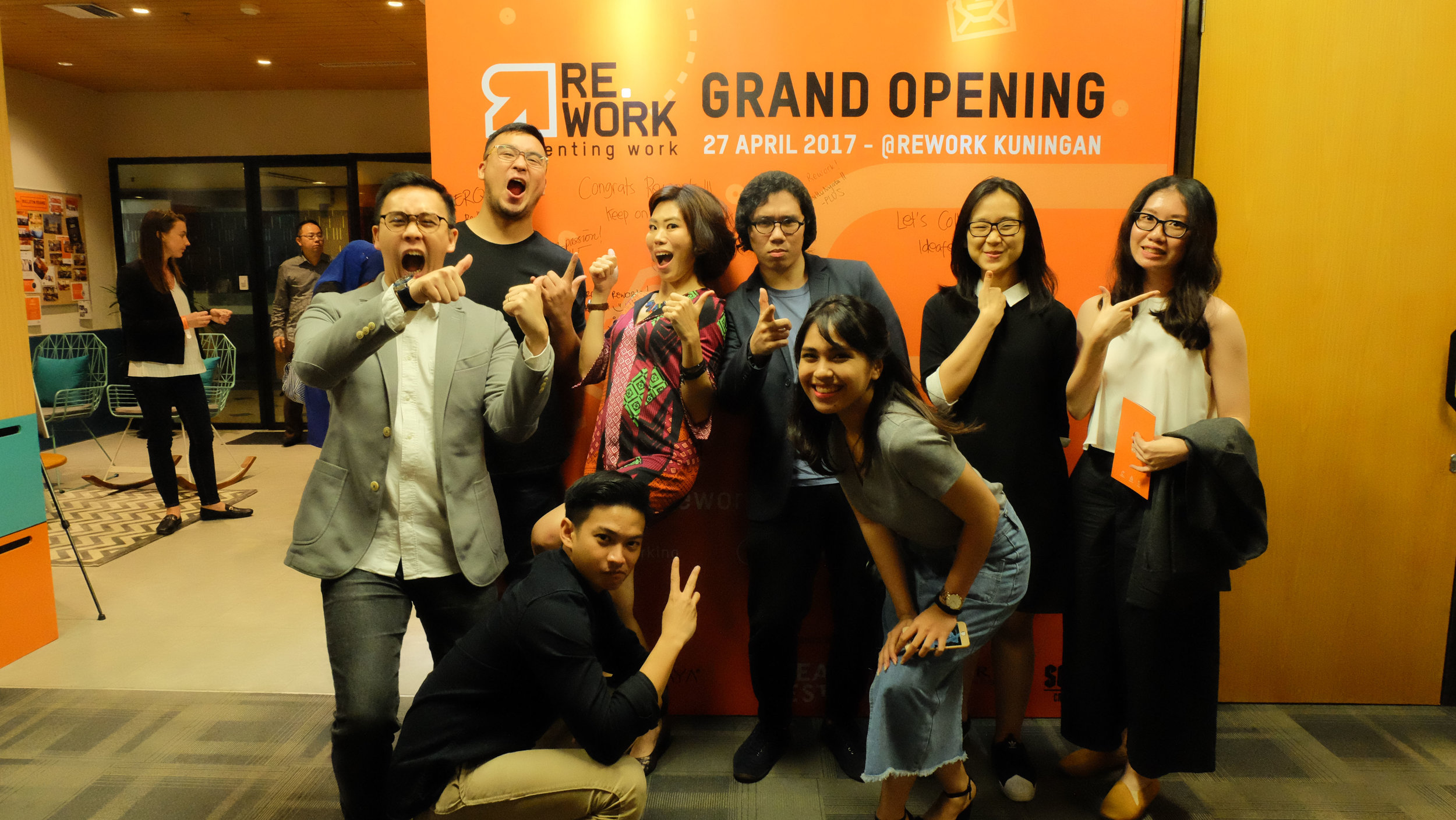 Rework coworking space grand launch people 1