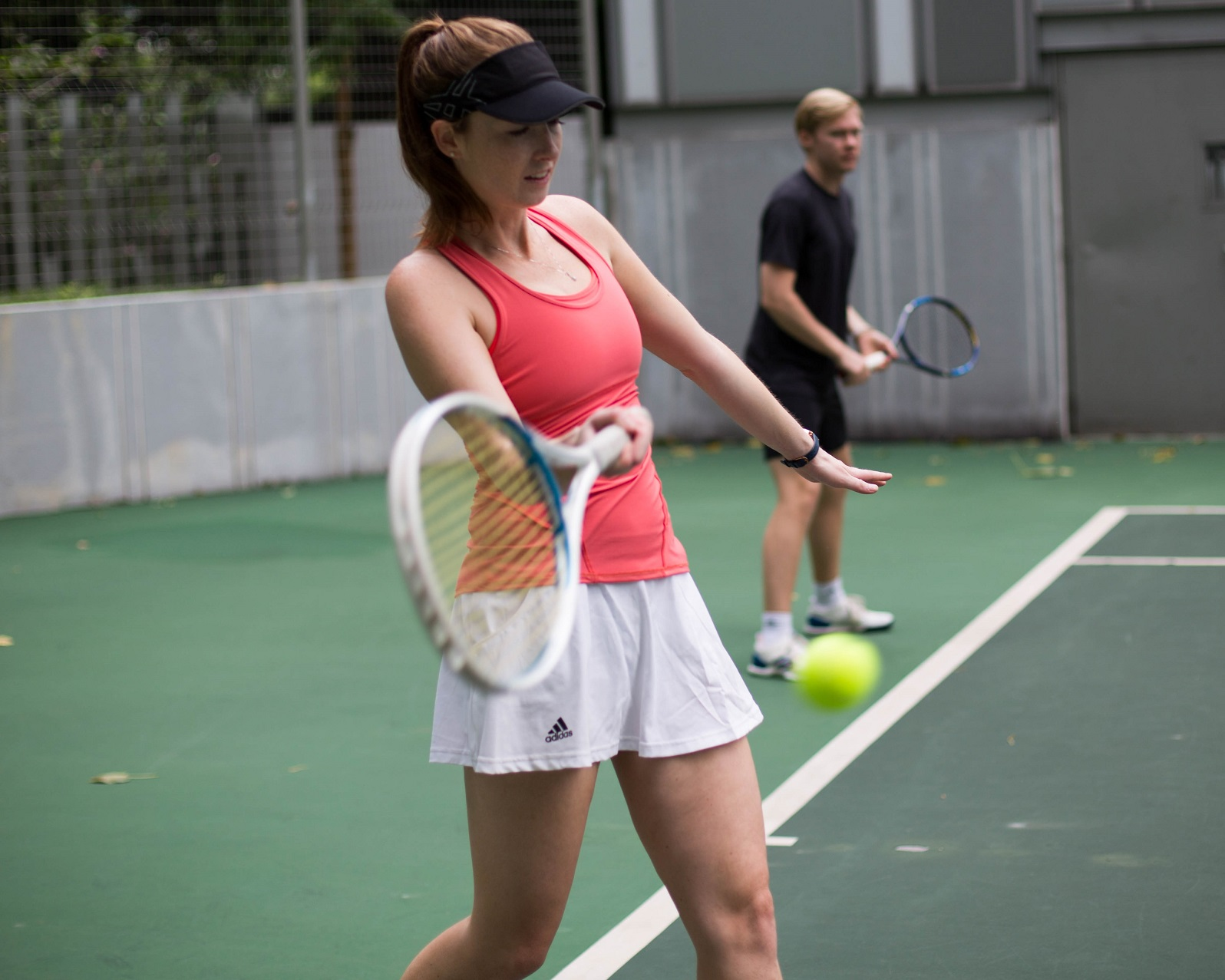 Tennis Lessons Singapore Pair