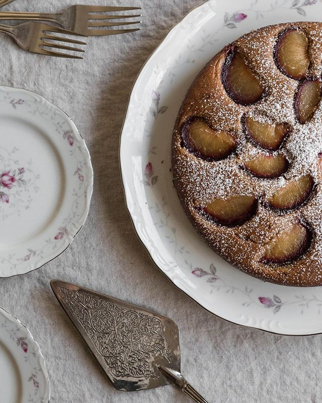 Sun-ripened stone fruit and cake are a match made in heaven.