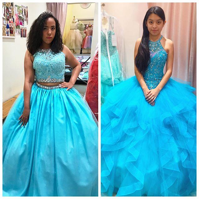 ✨Aqua Blue Queen✨ 🌦 . . . #bedazzled  #myquince  #quinceañera #twopiecedress  #ballgown  #felizcumpleaños