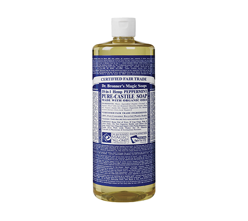 Dr. Bronner's Pure Castile Soap - Can't go wrong with this stuff. It's mad refreshing.