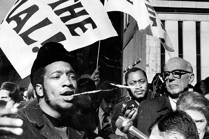 Fred Hampton at a rally in 1969
