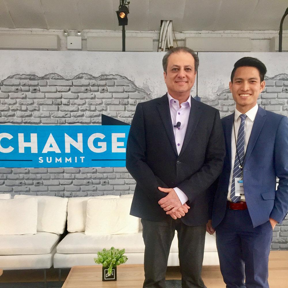 Matt Nguyen with former U.S. Attorney Preet Bharara.