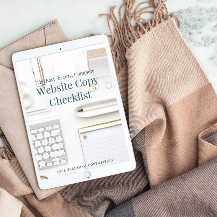 Free website copy checklist