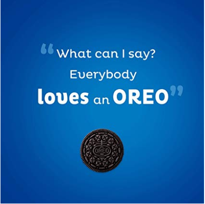 A secondary graphic on Oreo's Amazon page