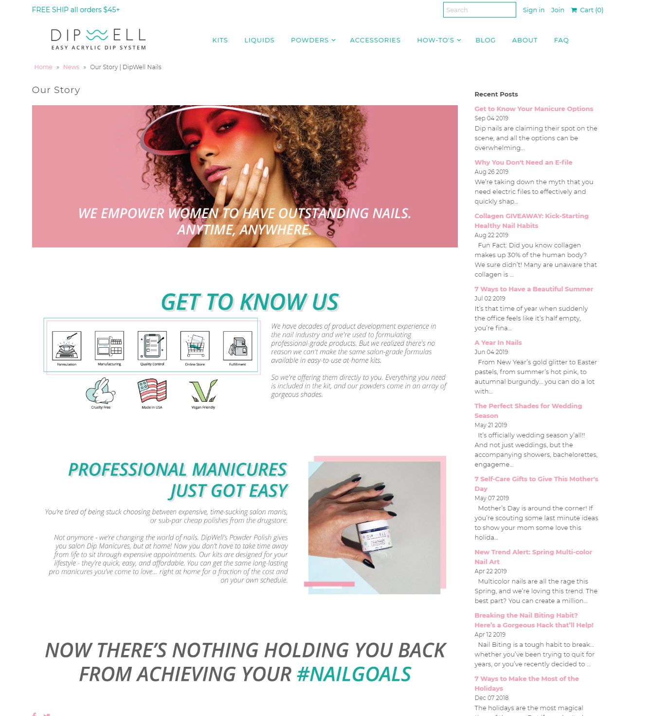 Brand Story for Cosmetics Company -