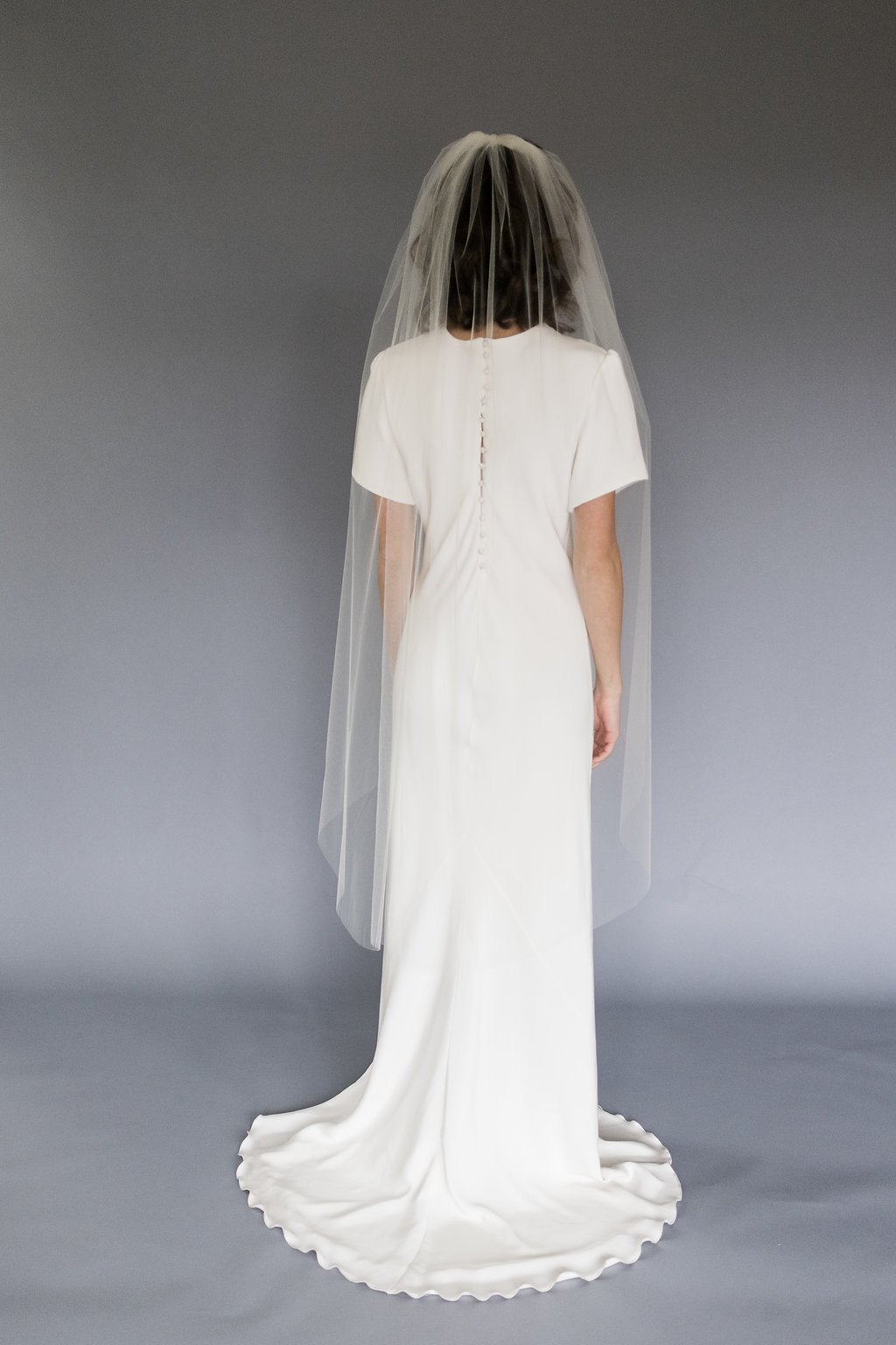 Waltz Length Wedding Veil by Melinda Rose Design
