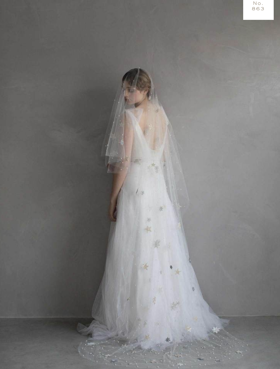 Chapel Length Wedding Veil by Twigs & Honey