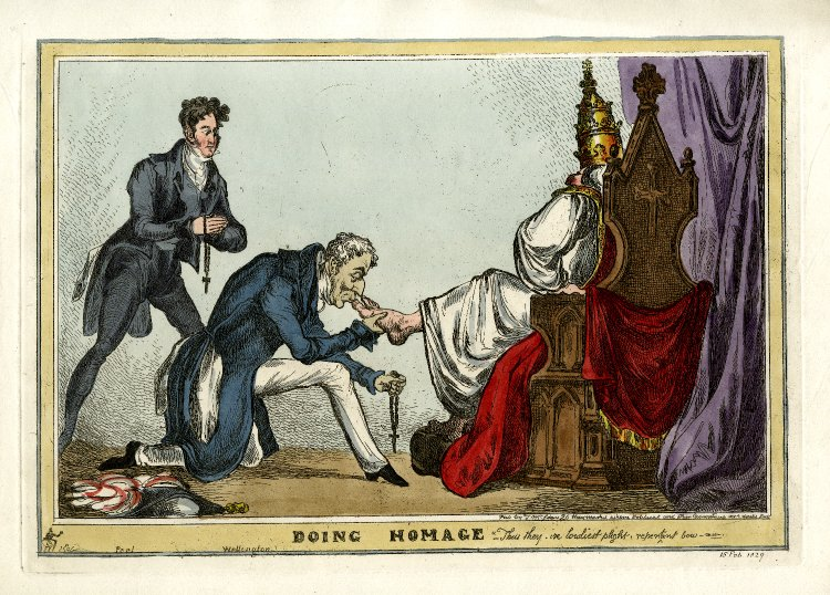 Fig 3:  Doing Homage  (1829). Copyright of the Trustees of the British Museum