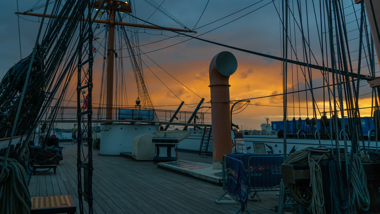 Out on deck enjoying the sunset