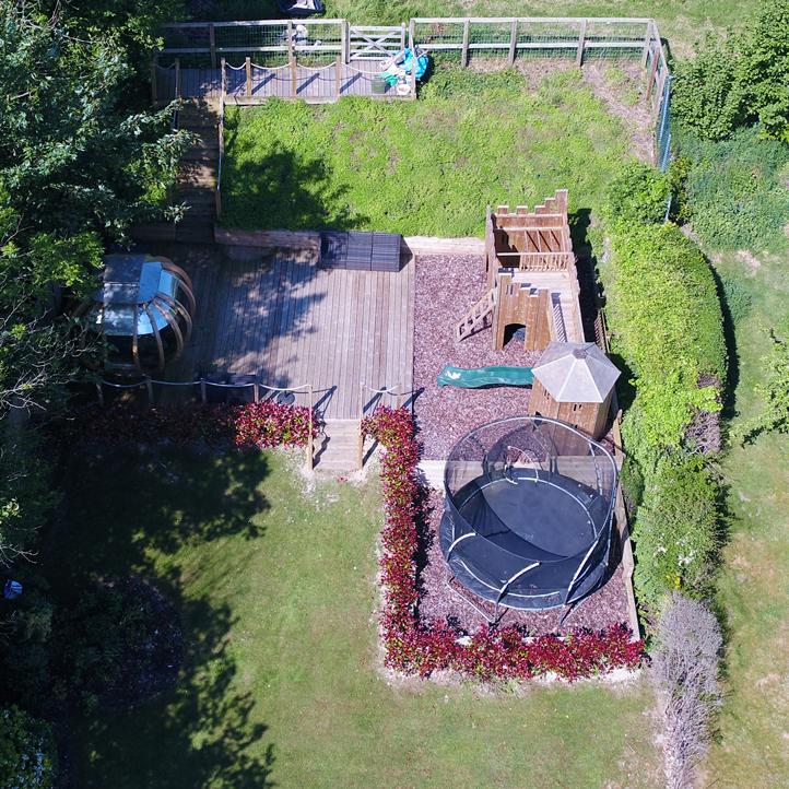 Garden top down view