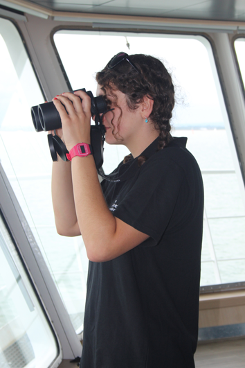 Katie Rapson from ORCA Surveying the Solent