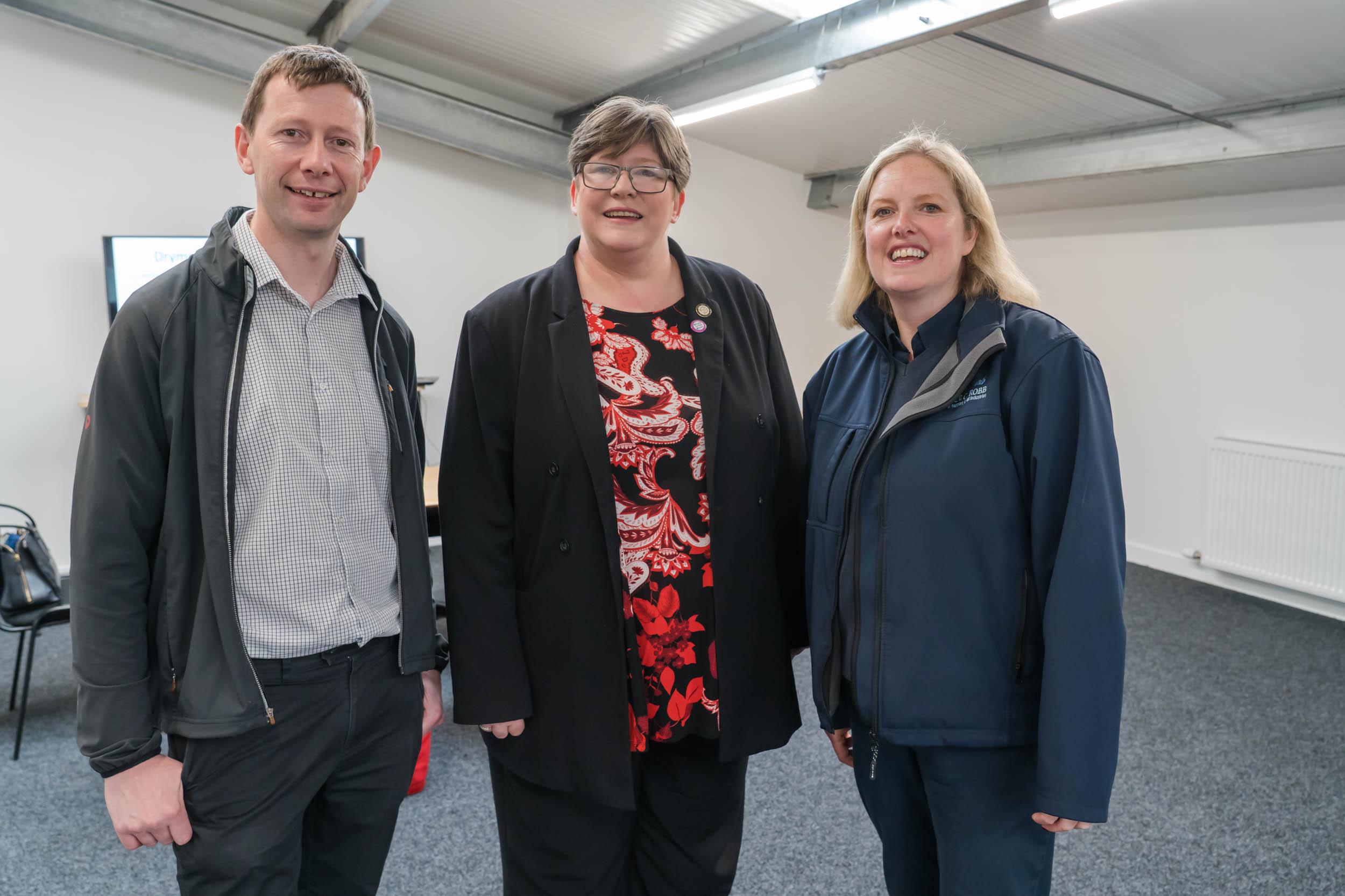 Stuart Mains, Loch Lomond & The Trossachs National Park and Tracey Patrick Depute Head, Balfron High School