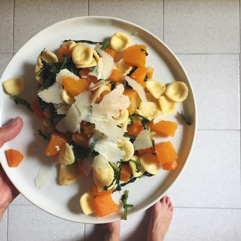 Orecchiette con Zucca e cicoria - A perfect dish for fall.