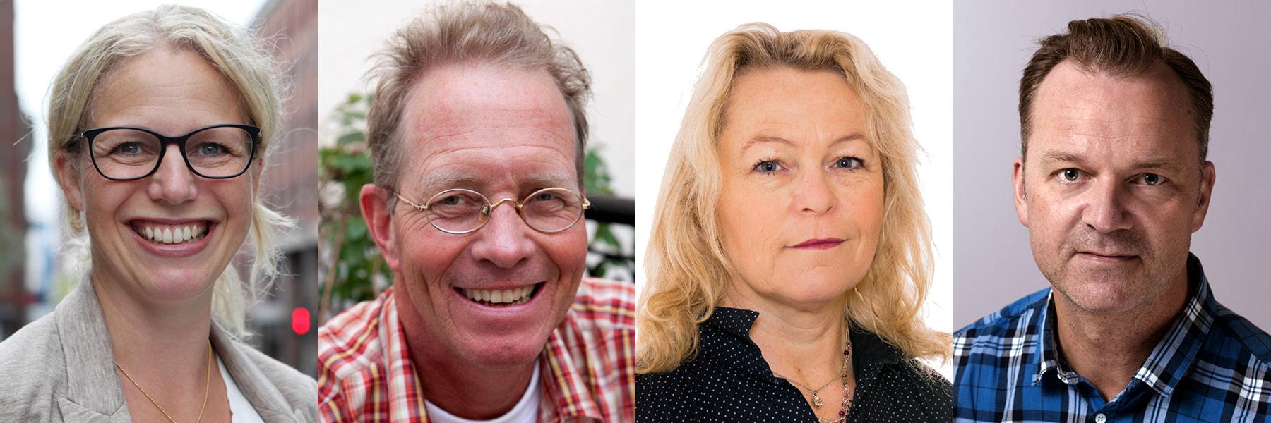 F.v.: Linda Granlund,Niels Christian Geelmuyden,Åse Michaelsen og Joacim Lund.