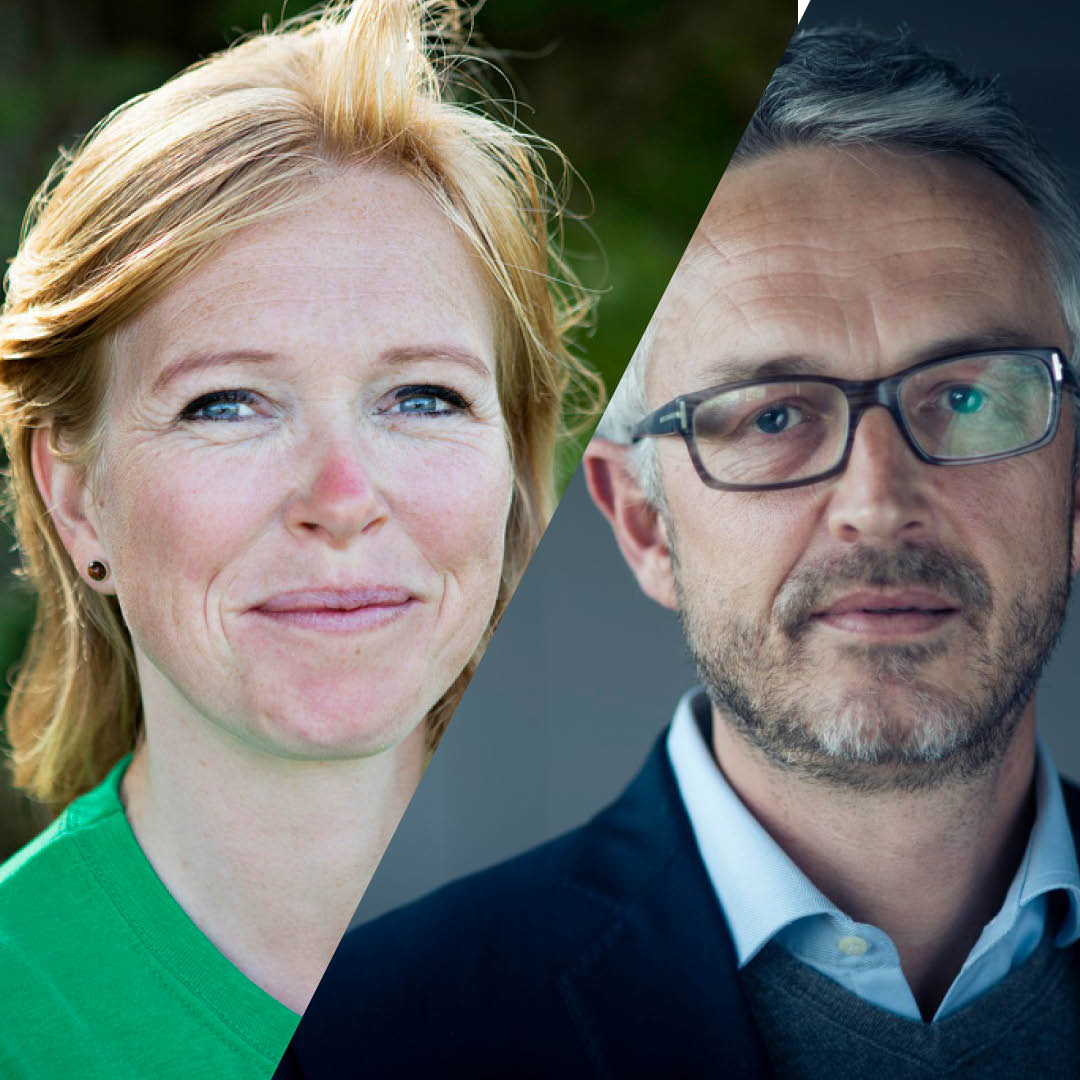 Duell mellom  Maren Esmark , generalsekretær i Naturvernforbundet og  Bjørn Otto Sverdrup, bærekraftsdirektør i Equinor