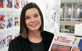 Mari Midtstigen  Redaktør i Aftenposten Jr.
