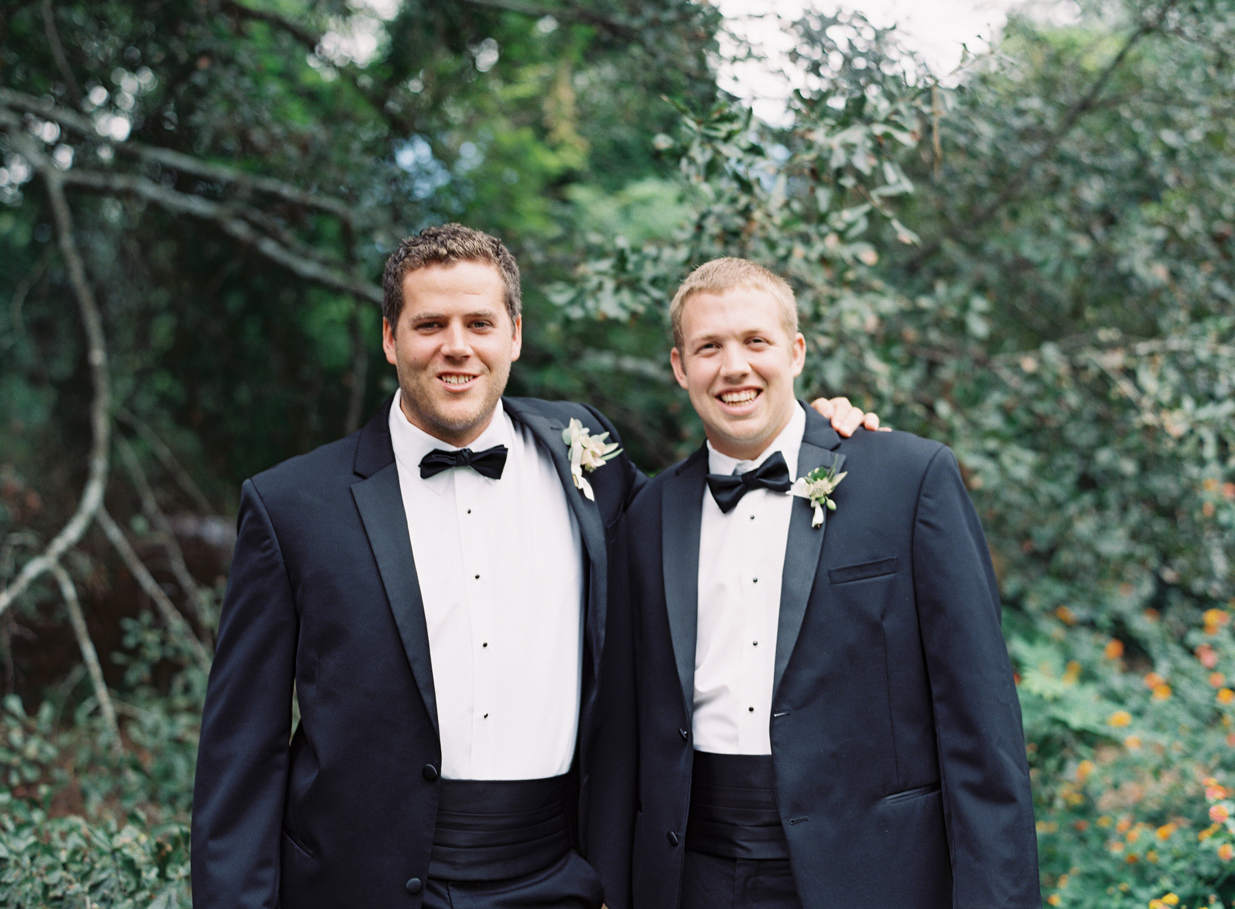 Zack and Andrew (Best Man) at Zack's wedding in September of 2015