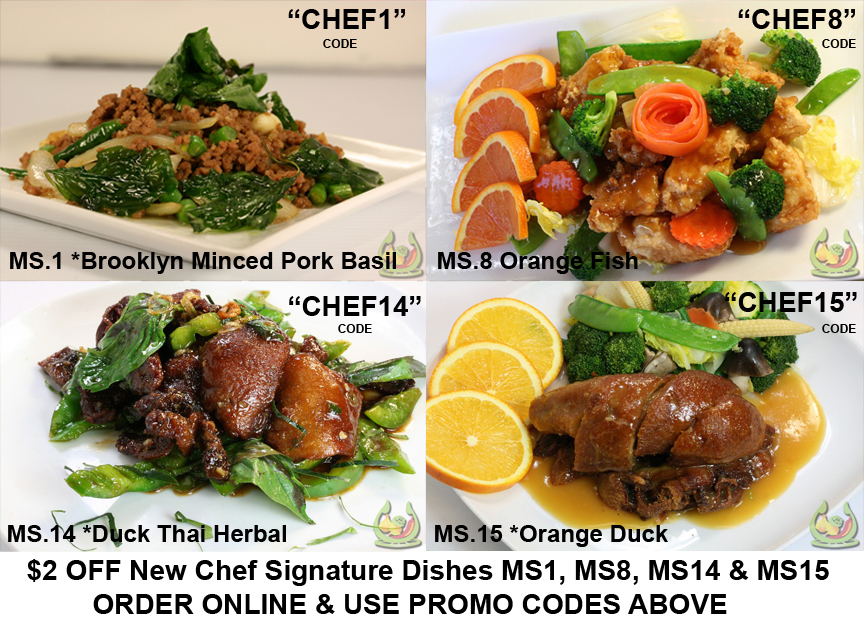 $2 OFFCHEF SPECIALTIES - $2 OFF New Chef Signature Dishes MS1 code