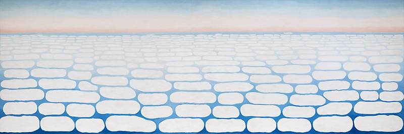 """""""Sky above Clouds IV"""" by Georgia O'Keeffe. Oil on canvas. Art Institute of Chicago."""