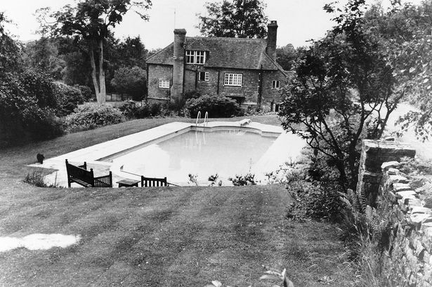 The swimming pool at Brian Jones's home, where he drowned
