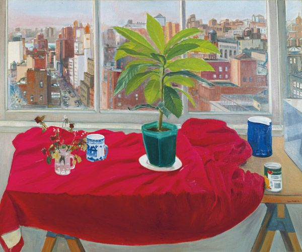 Jane Freilicher,  12th Street and Beyond , 1976, Oil on canvas, 50 x 60 in., collection of Lola and Allen Goldring