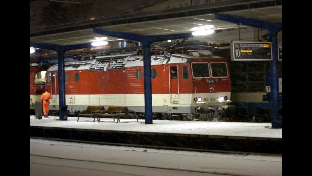 Bratislava train station in the Winter