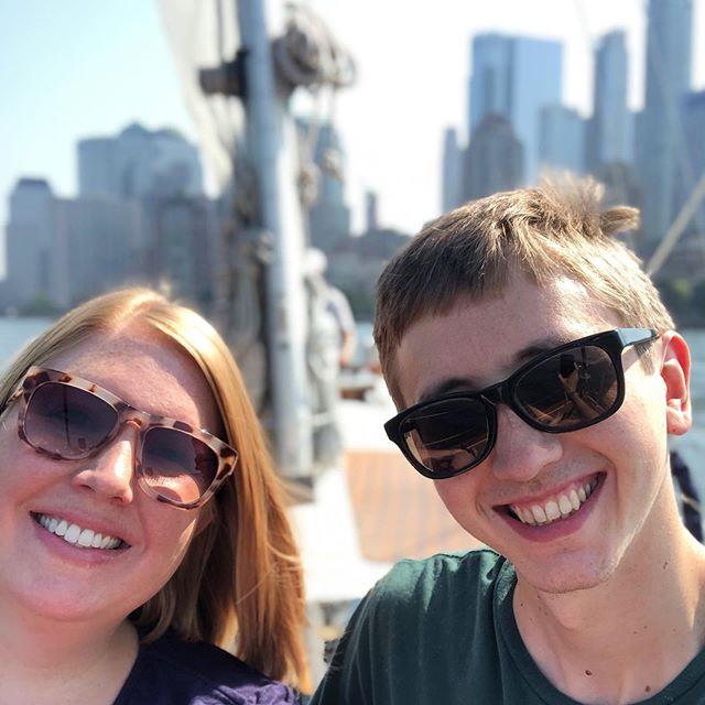 Sailed the NY Harbor with Captain David and @tribecasailing.