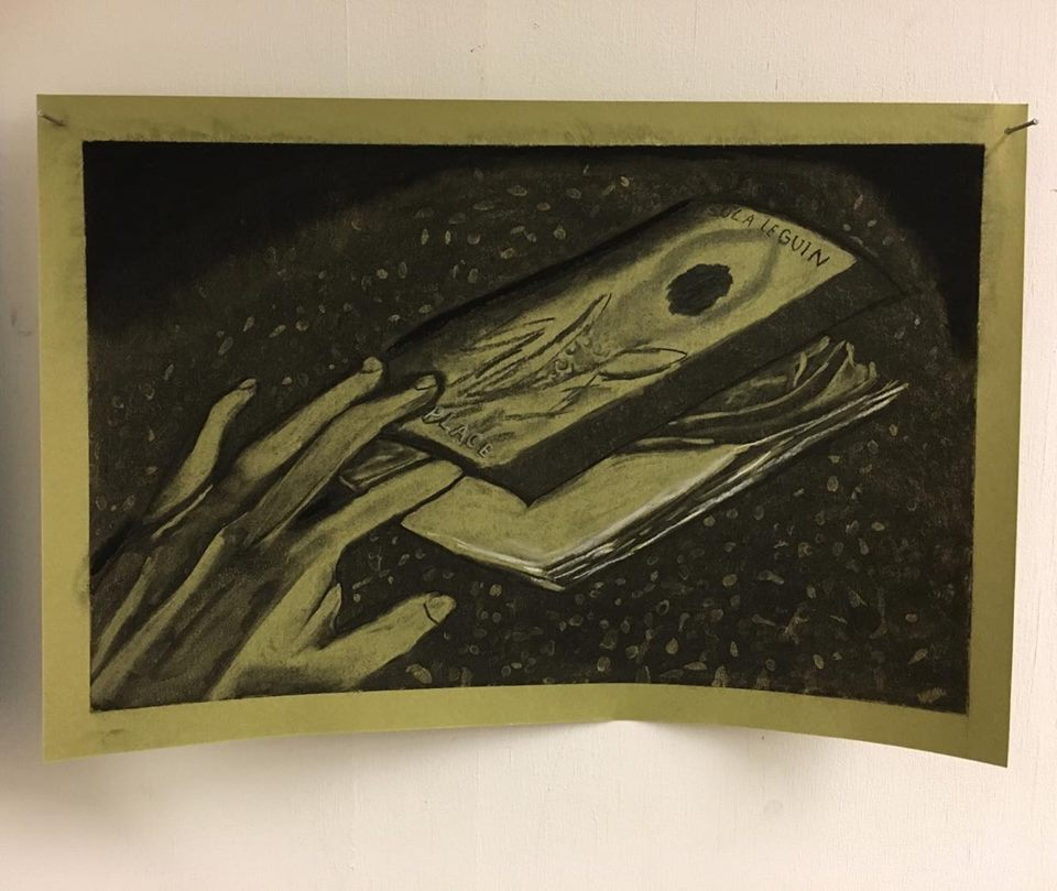 construction paper drawings - (2017) A small collection of charcoal reductive drawings of fake objects on construction paper
