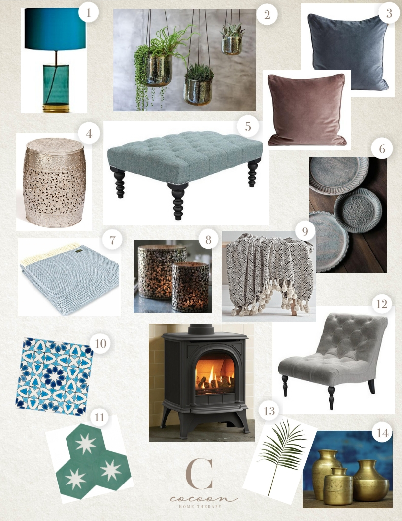 A few ideas to get this cosy look in your own home