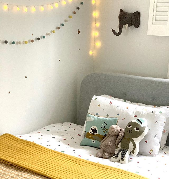 Hello! Mel here hopping on to share this little snap of my son's bedroom. He was awake all night and hence so was I... I ended up planning how to re-organise his room to create a cosier sleeping space as if that might solve things?! Does anyone else not sleep when there is a full moon...? 🌕 . I threw our lovely saffron blanket over his bed today for some extra warmth. Just love this colour, it seems to go with everything and adds a layer of autumnal warmth and cosiness. Check it out in our shop/ link in bio xxx . . #kidsroom #kidsroomdecor #kidsbedroom #kidsbedding #cosycorner #blankets #colourpop #yellow💛 #cosyhome #fullmoonvibes #sleeplessnight