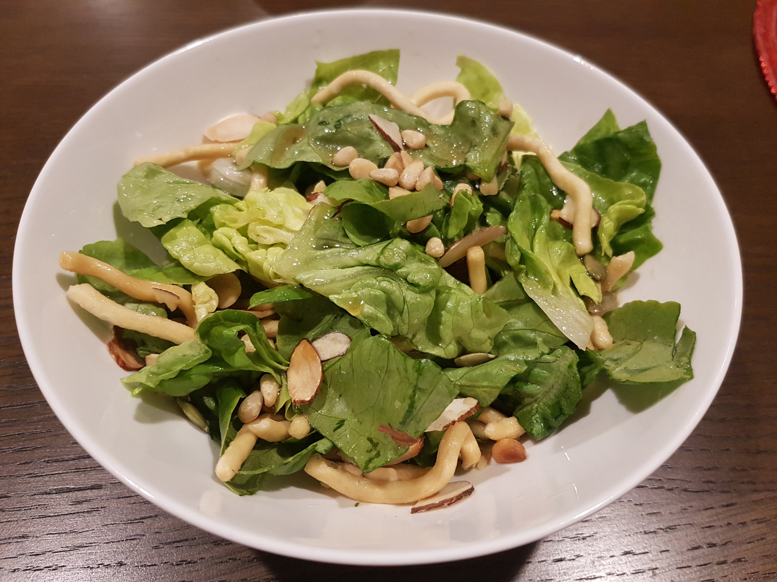 Baby Cos salad with Asian dressing
