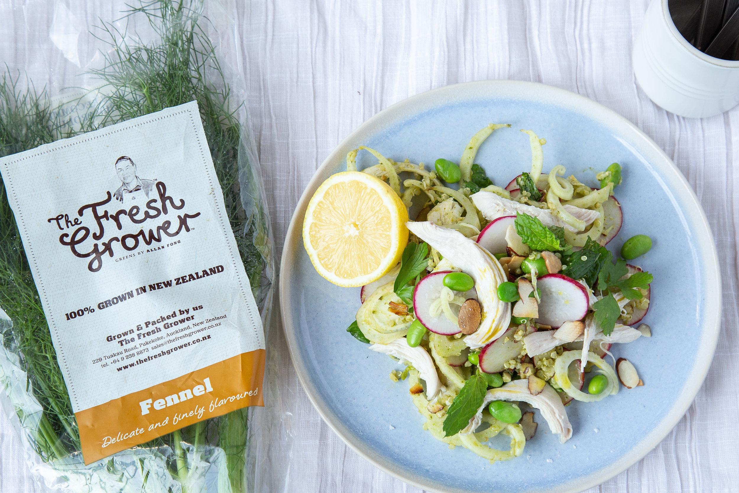 Almond Milk Poached Chicken Salad, The Fresh Grower.jpg