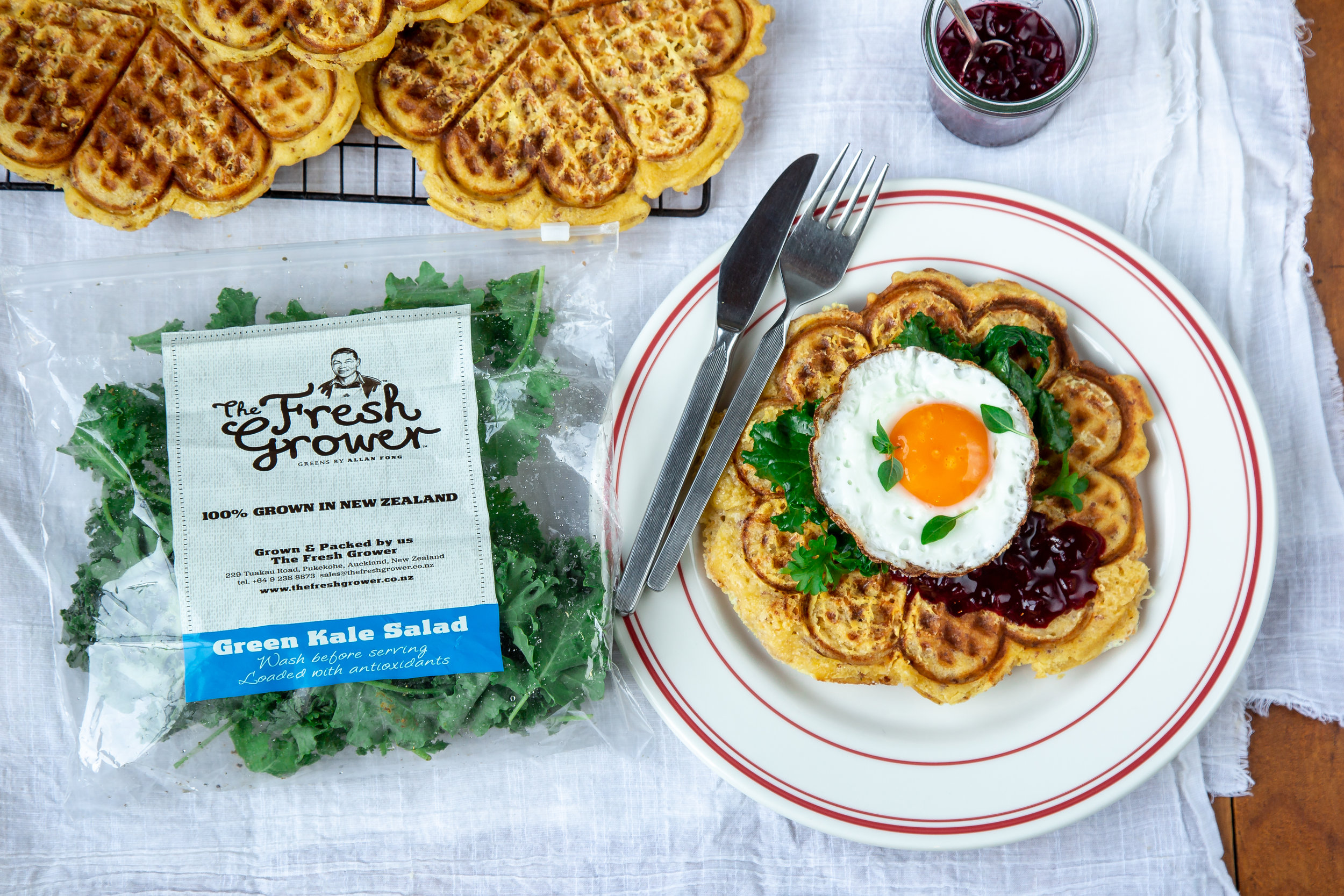 Chorizo & Cheddar Breakfast Waffles, The Fresh Grower.jpg