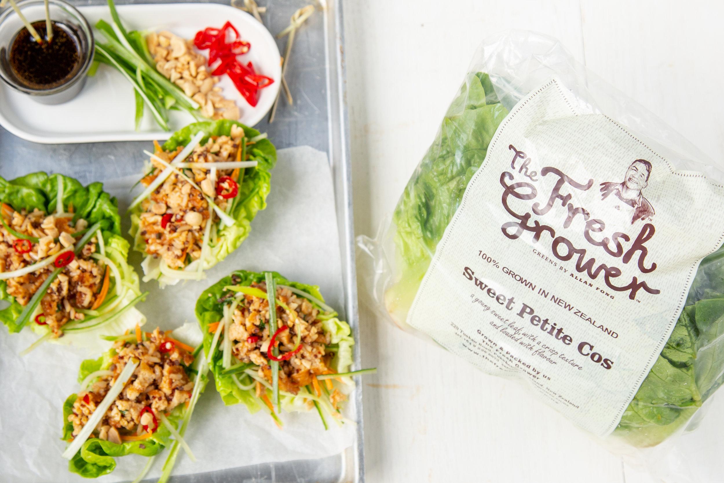Ginger  Honey Tofu Lettuce Cups, The Fresh Grower.jpg