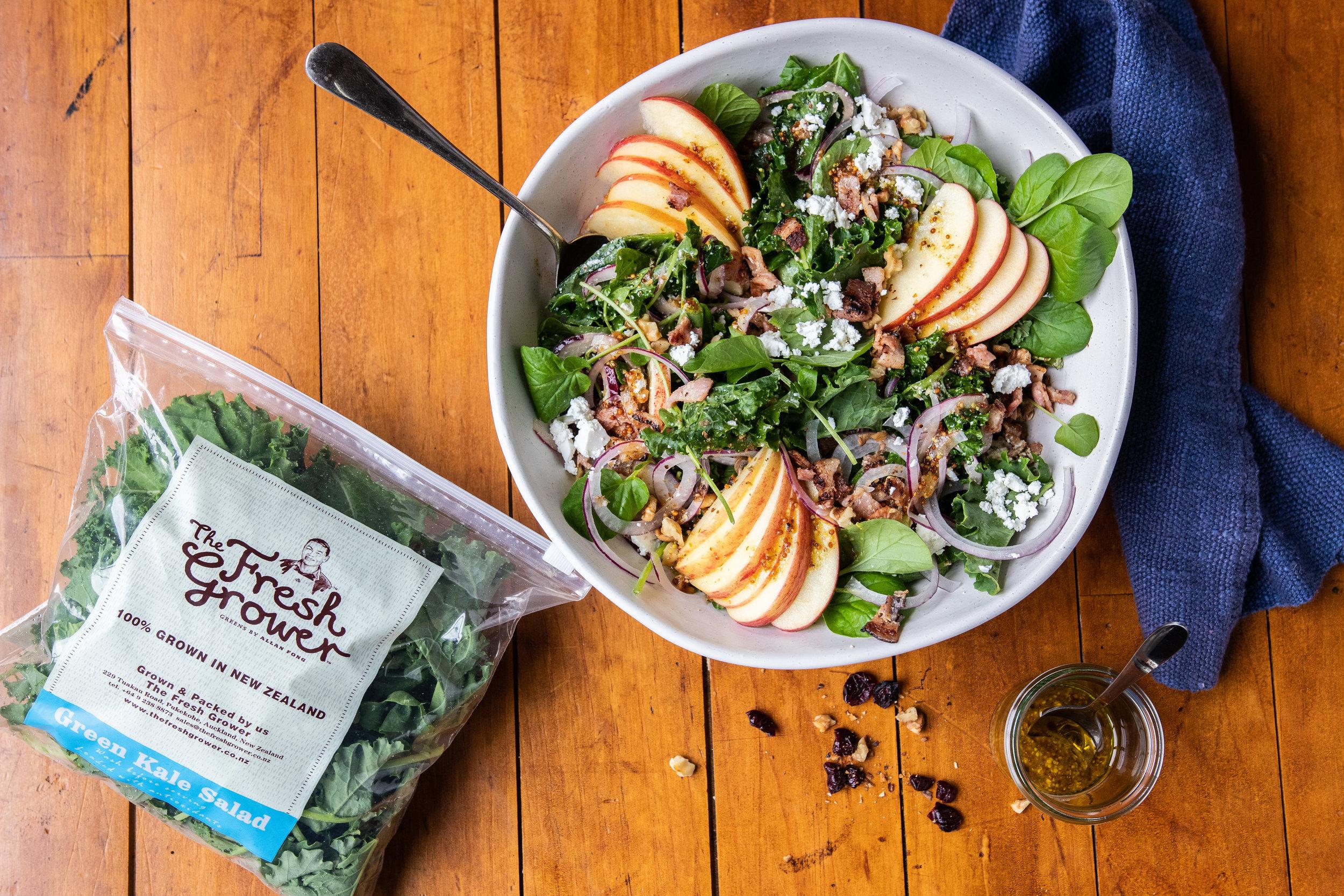 Winter Apple & Kale Salad, The Fresh Grower.jpg